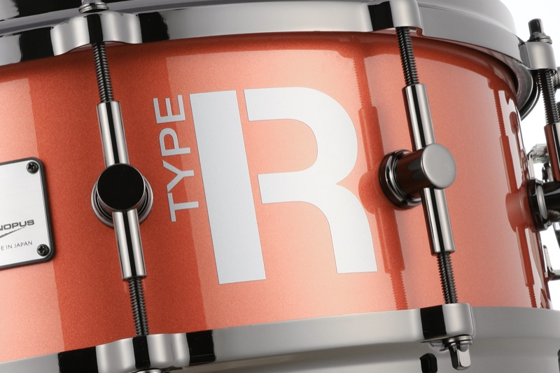 TYPE-RDRUMSMTR-1455-DHダイキャストフープBlackNickelPartsCoronaMetallicスネアドラム