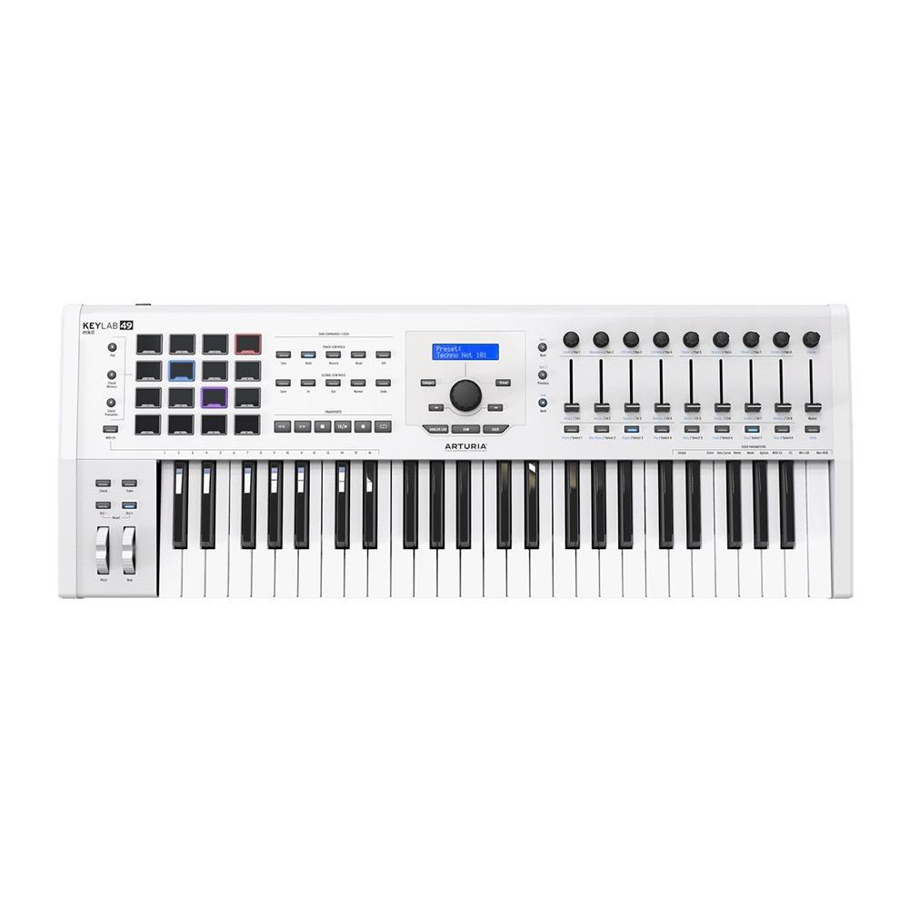 ARTURIA KeyLab 49 MKII White Analog Lab/Ableton Live/Piano V bundling  hybrid synthesizer MIDI keyboard 49 keyboard