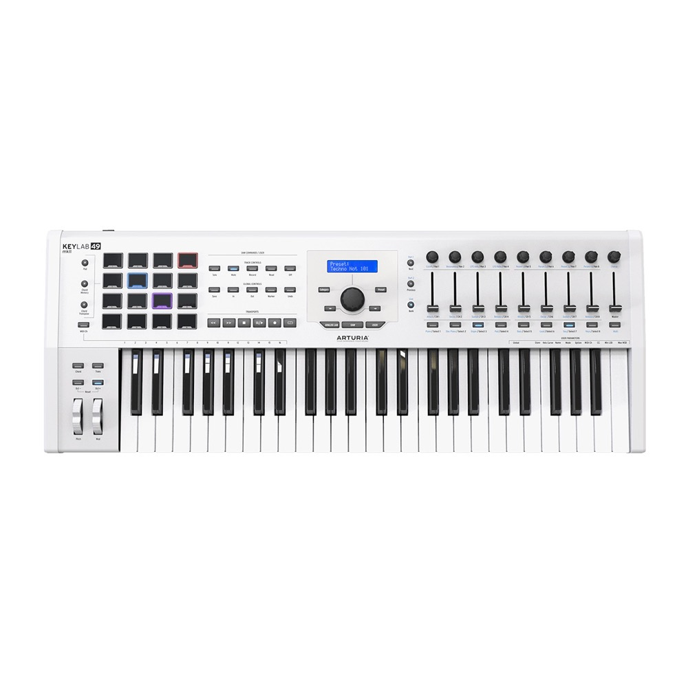 ARTURIA KeyLab 49 MKII White Analog Lab/Ableton Live/Piano V 同梱 ハイブリッドシンセサイザー MIDIキーボード 49鍵盤