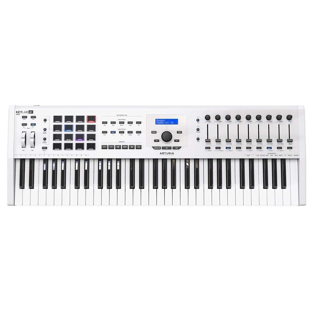 ARTURIA KeyLab 61 MKII White Analog Lab/Ableton Live/Piano V 同梱 ハイブリッドシンセサイザー MIDIキーボード 61鍵盤