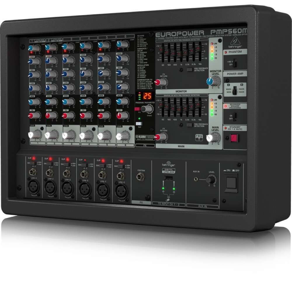 BEHRINGER PMP500MP3 EUROPOWER 6ch コンパクト パワードミキサー