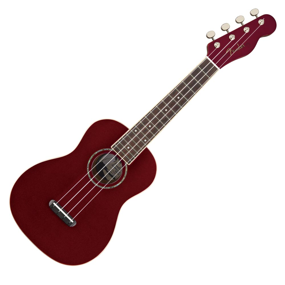 Fender Zuma Classic Concert Ukulele WN Candy Apple Red コンサートウクレレ