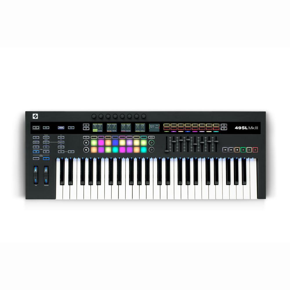 novation 49SL MkIII 8トラックシーケンサー搭載 MIDIキーボード 49鍵盤仕様