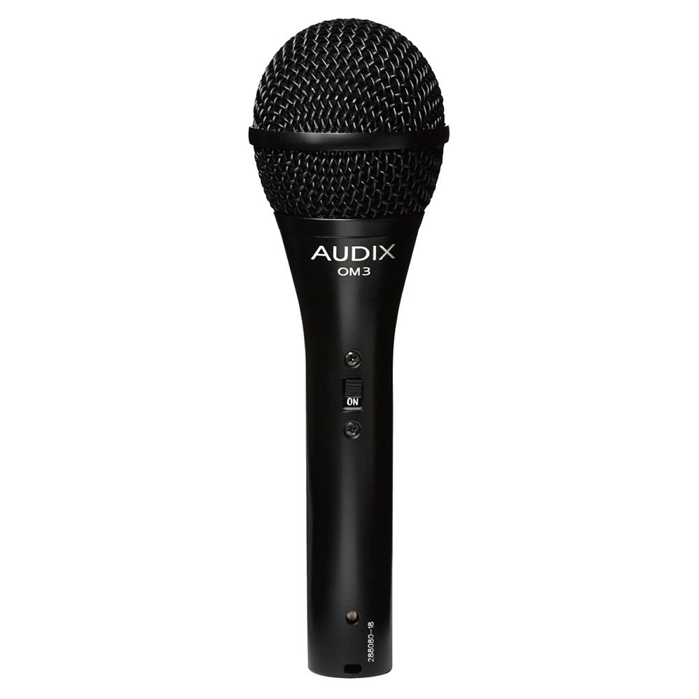 AUDIX OM3S ボーカル用ダイナミックマイク On/Offスイッチ搭載版