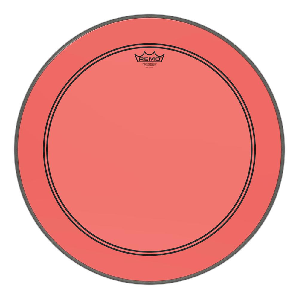 REMO P3-320B POWERSTROKE3 COLORTONE #RD 20インチ ドラムヘッド バスドラム用