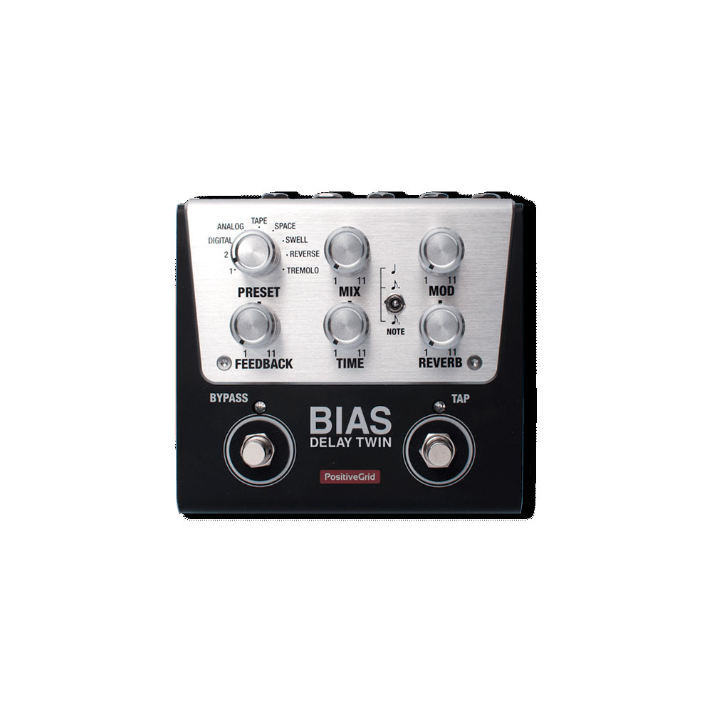 Positive Grid BIAS Delay Twin Tone Match Delay Pedal 2 Button ギターエフェクター