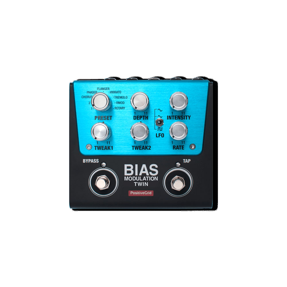 Positive Grid BIAS MODULATION Twin Tone Match Modulation Pedal 2 Button ギターエフェクター