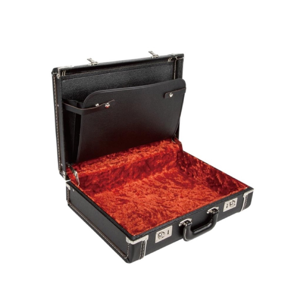 Fender 5 Depth Briefcase Black with Red Plush Interior ブリーフケース アウトレット