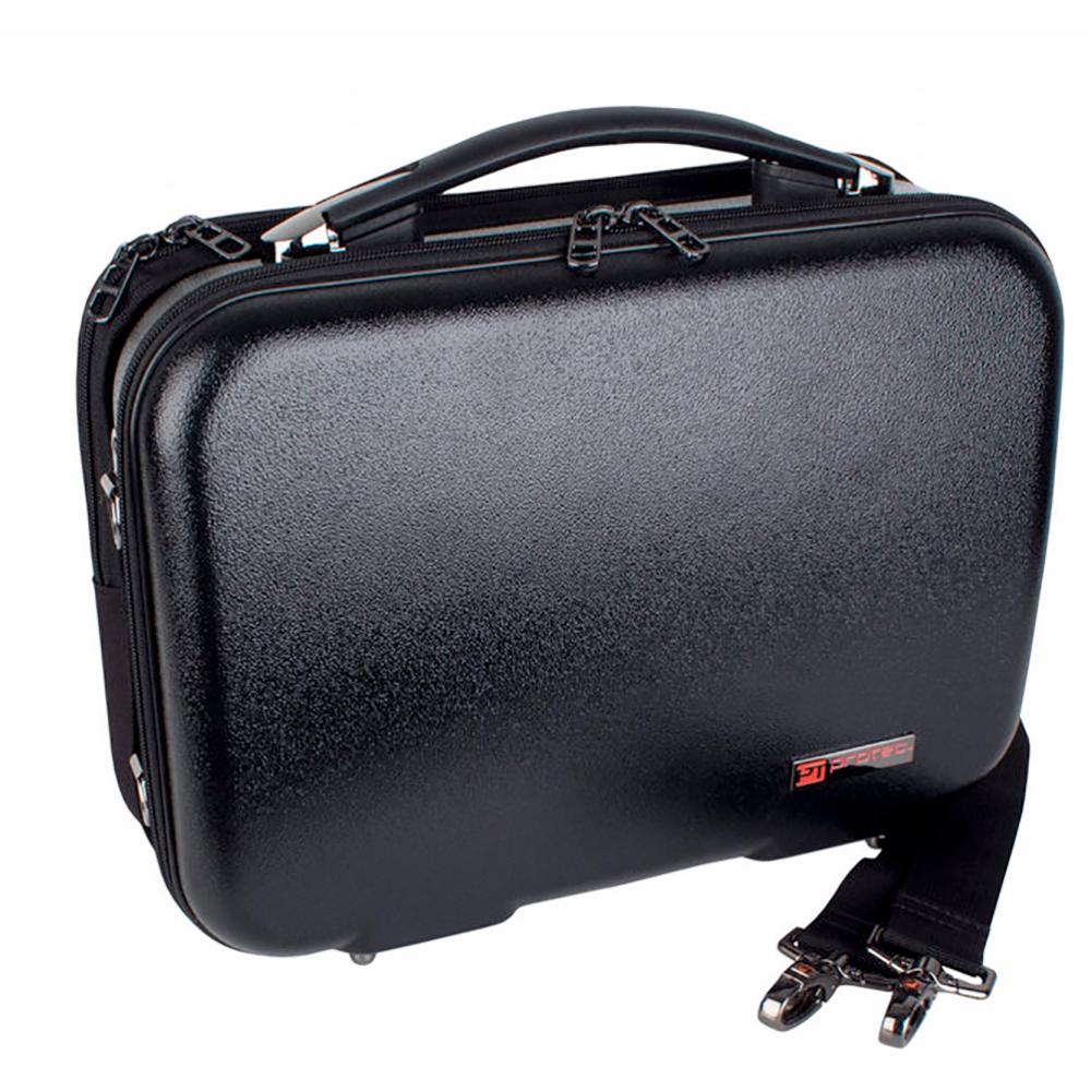 PROTEC BLT307 B♭クラリネット用 セミハードケース ブラック 楽譜ポケット付き