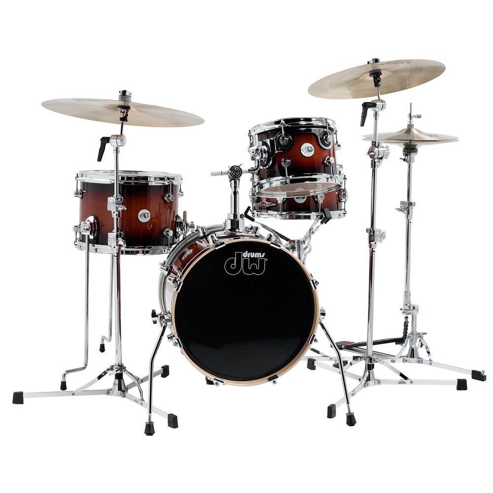 DW Design Series Mini-Pro Kit Tobacco Burst 16インチ ドラムセット