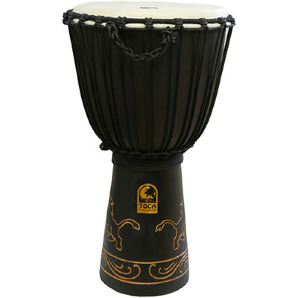 TOCA TODJ-12LN Origins Series Carved Djembe 12 LION ジャンベ