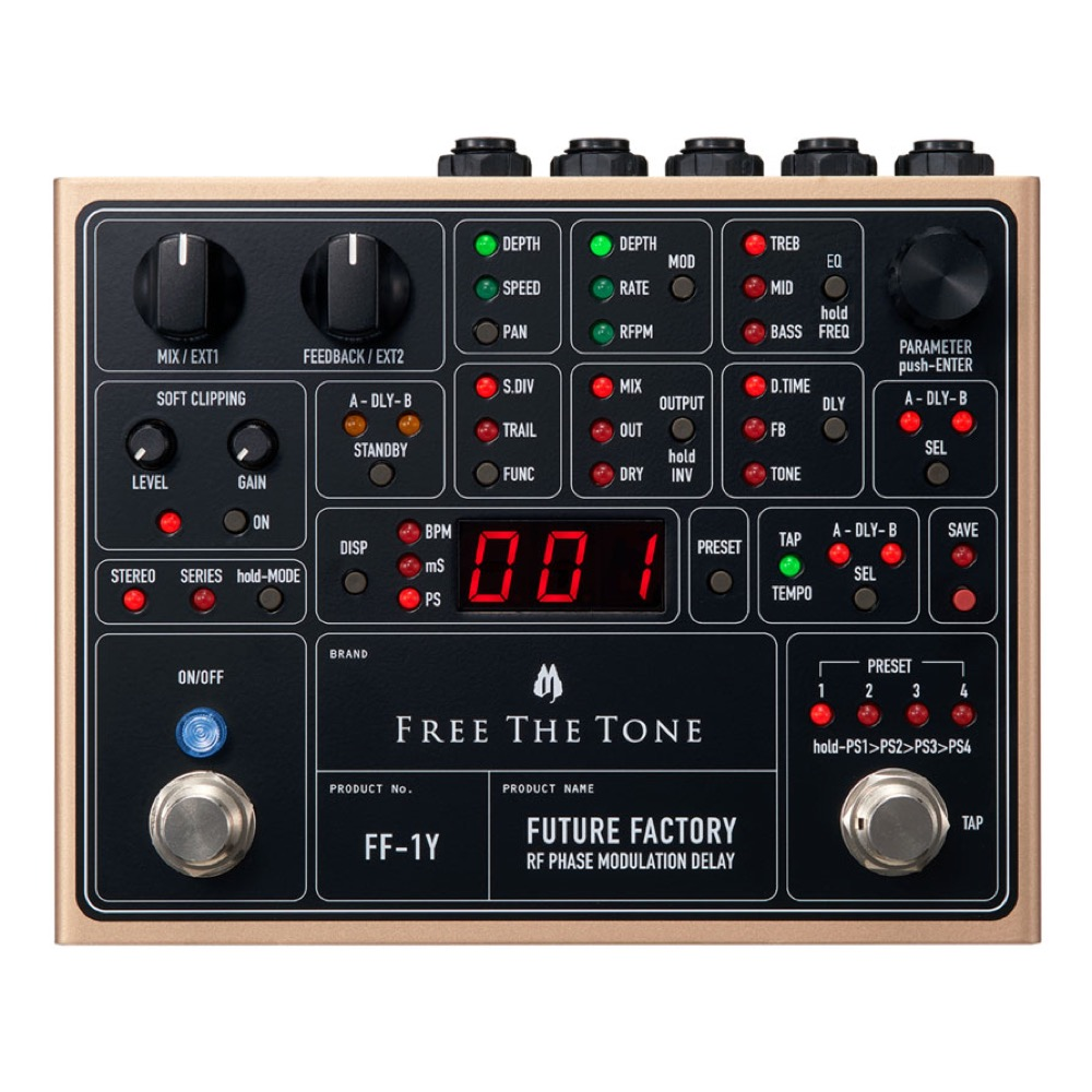 Free The Tone FF-1Y FUTURE FACTORY RF PHASE MODULATION DELAY ギターエフェクター