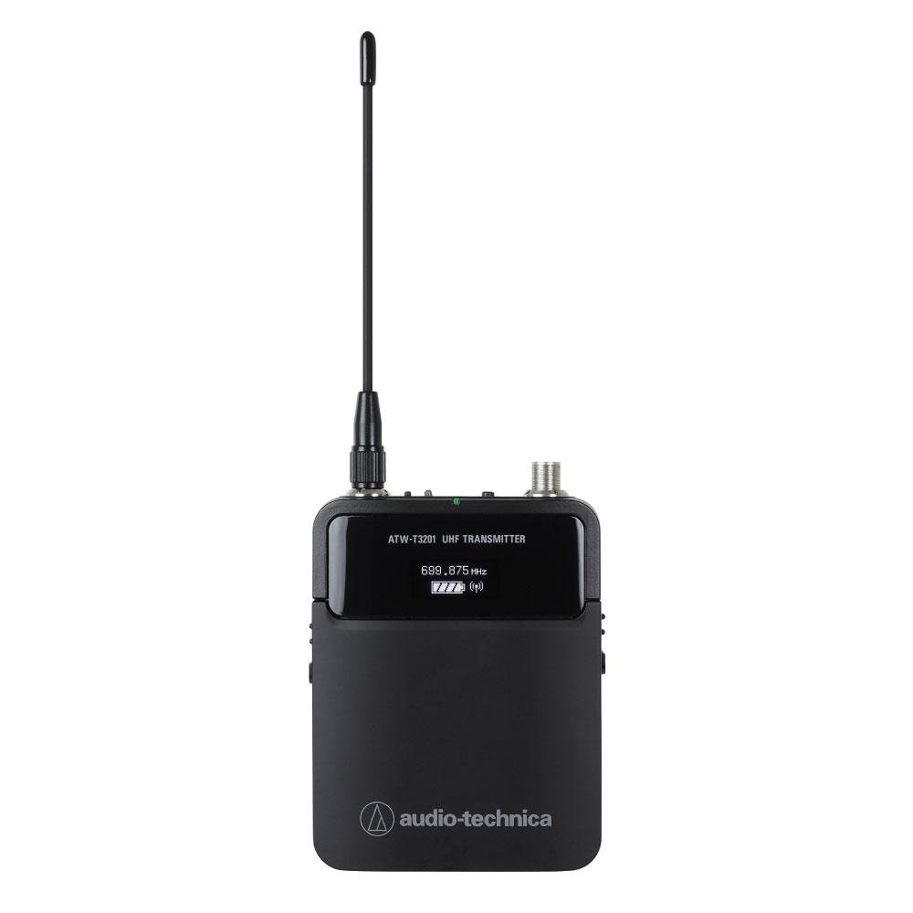 マイクロホンと楽器に両対応のワイヤレストランスミッター AUDIO-TECHNICA ATW-T3201HH1 2ピースワイヤレストランスミッター