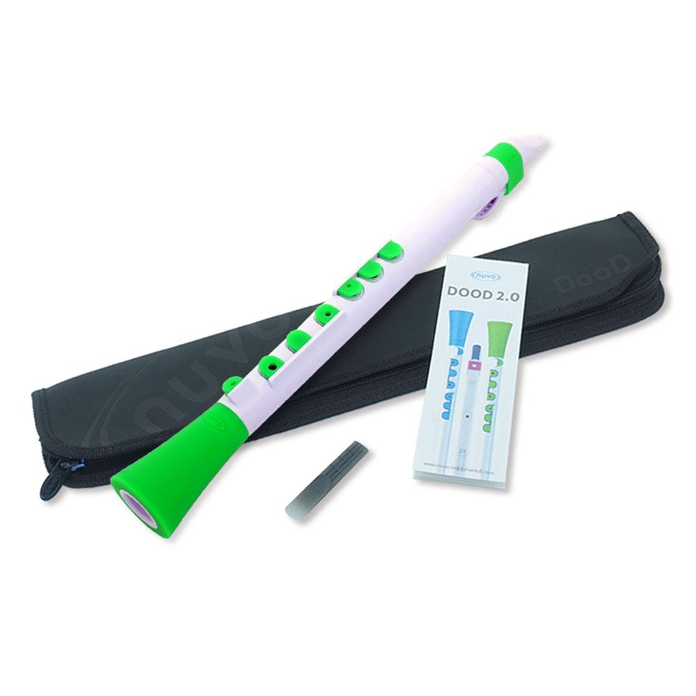 登場大人気アイテム ヌーボ ドゥード2.0 プラスチック製管楽器 NUVO N430DWGN メーカー公式 DooD クラリネット White 2.0 サックス Green