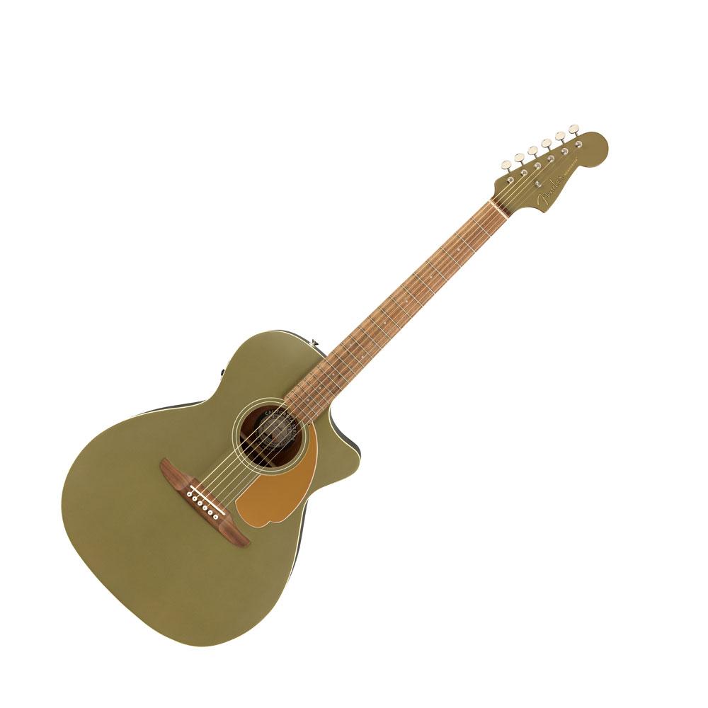 Fender Newporter Player Olive Satin WN エレクトリックアコースティックギター