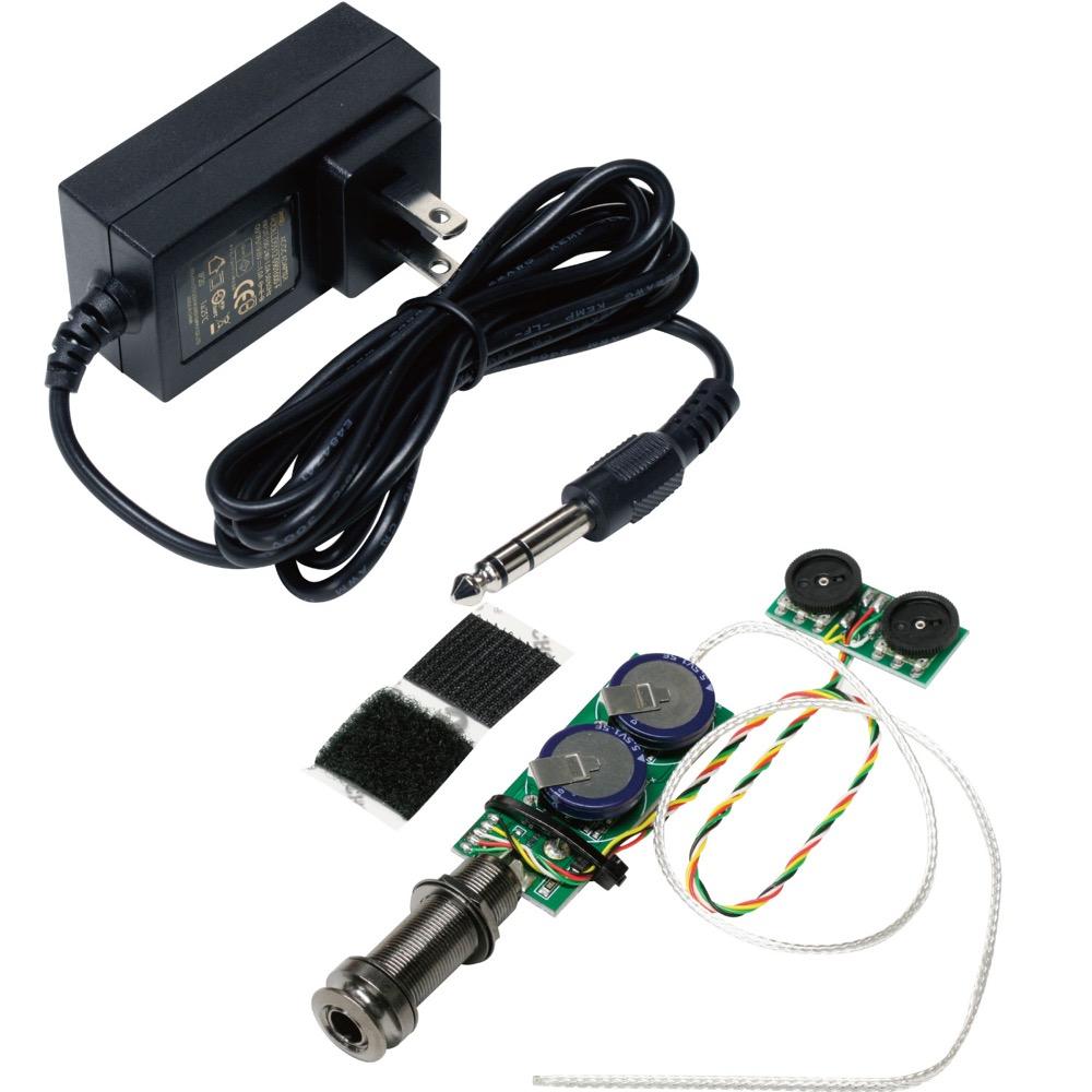 Mi-Si Acoustic Trio Air Uke 充電式ウクレレ用アンダーサドルピックアップシステム