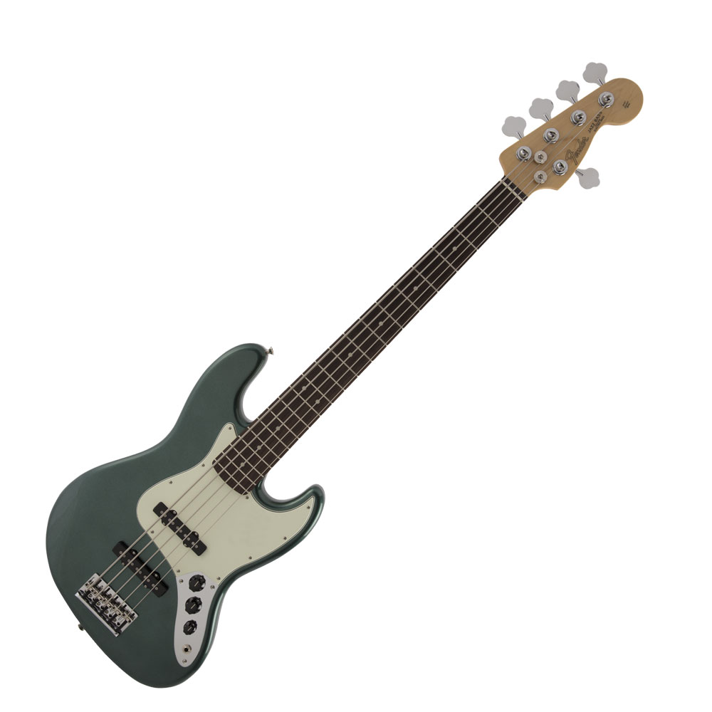 Fender Made in Japan Hybrid Jazz Bass V RW Sherwood Green Metallic エレキベース