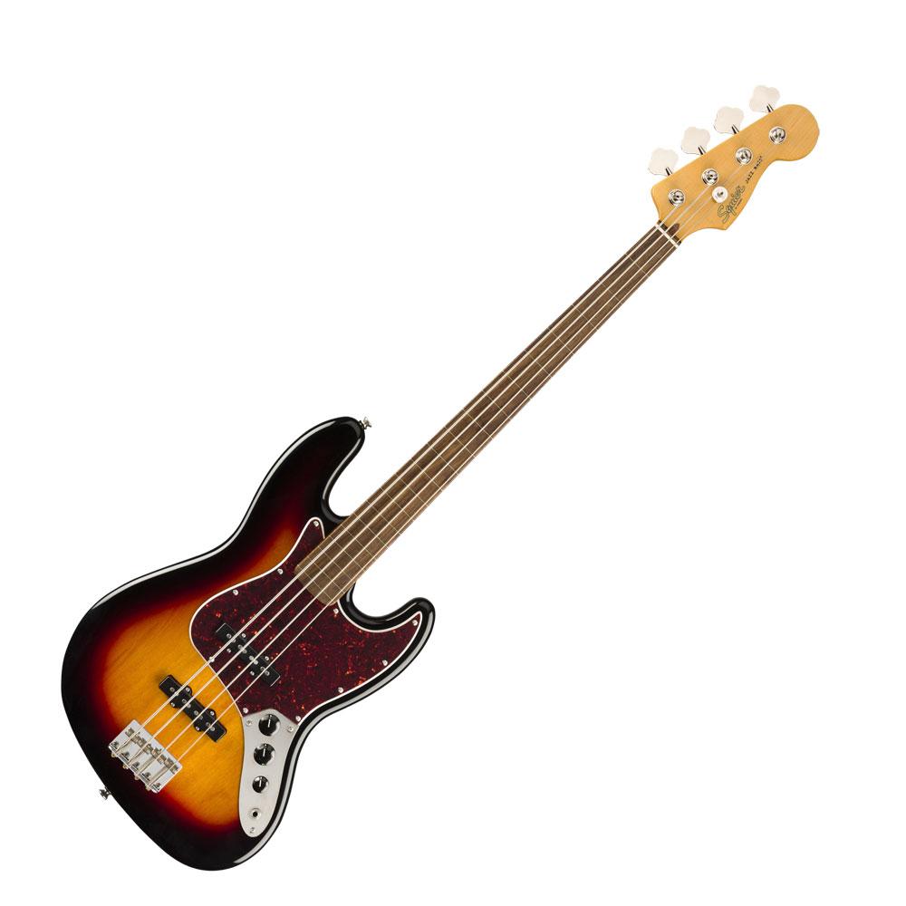 Squier Classic Vibe '60s Jazz Bass Fretless 3TS LRL エレキベース