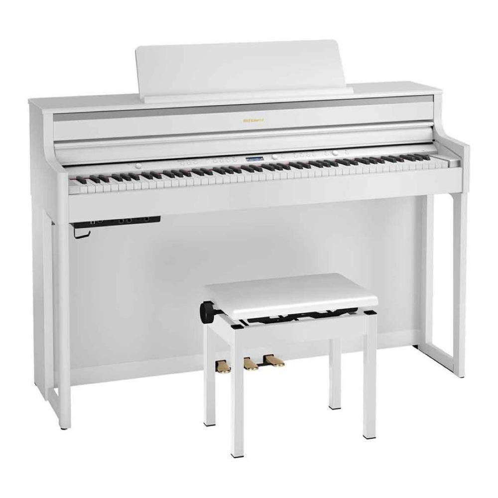 ROLAND HP704-WHS 電子ピアノ 高低自在椅子付き ホワイト 【組立設置無料サービス中】