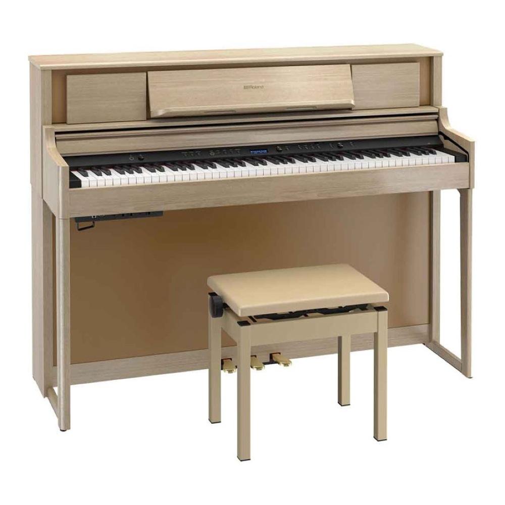 ROLAND LX705-LAS 電子ピアノ 高低自在椅子付き ライトオーク 【組立設置無料サービス中】