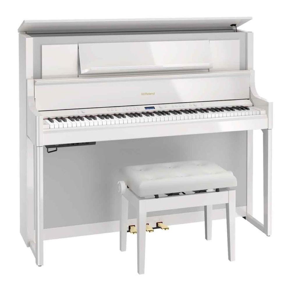 ROLAND LX708-PWS 電子ピアノ 高低自在椅子付き 白塗り鏡面艶出し塗装【組立設置無料サービス中】