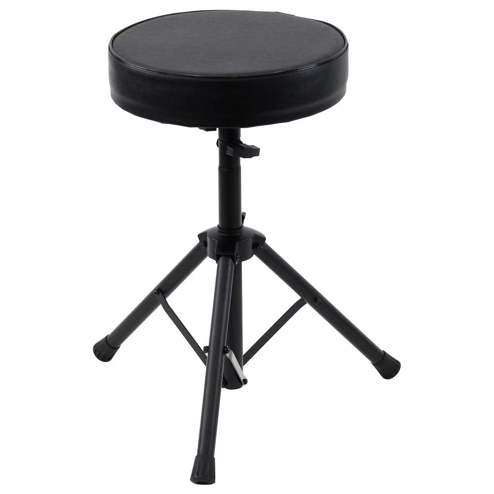 ドラム椅子 折り畳み可能な3脚タイプ 丸型座面 合皮 ついに再販開始 Dicon Audio Drum BK throne 市場 SB-005 ドラムスローン