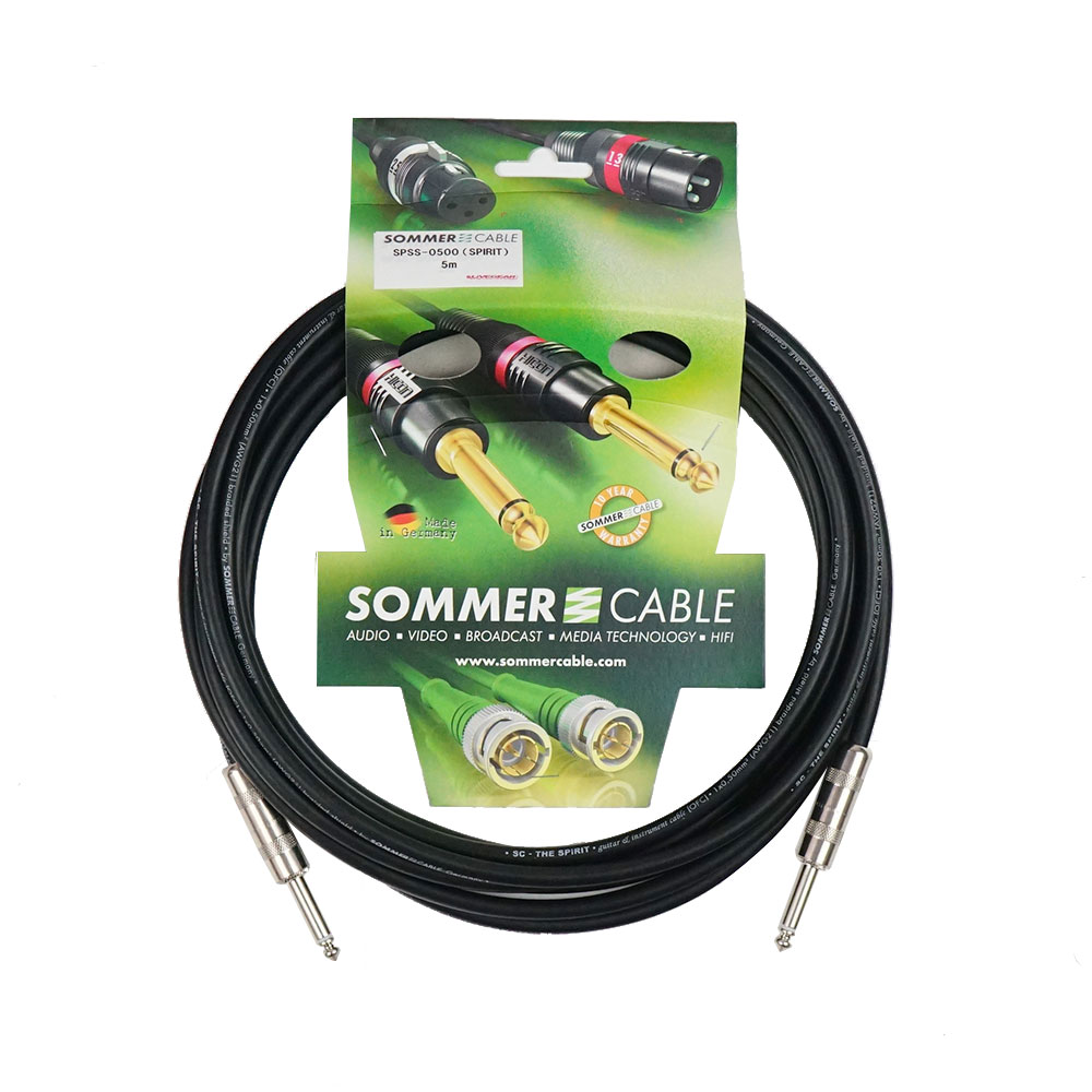 SOMMER CABLE SPSS-0500 SC-SPIRITシリーズ SS 5M 楽器用ケーブル