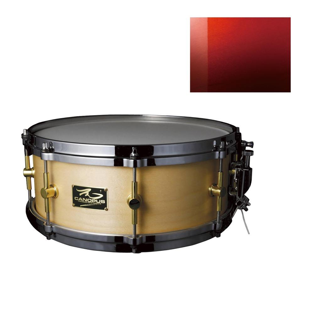 CANOPUS M-1455 The Maple Crimson Fade グロス スネアドラム
