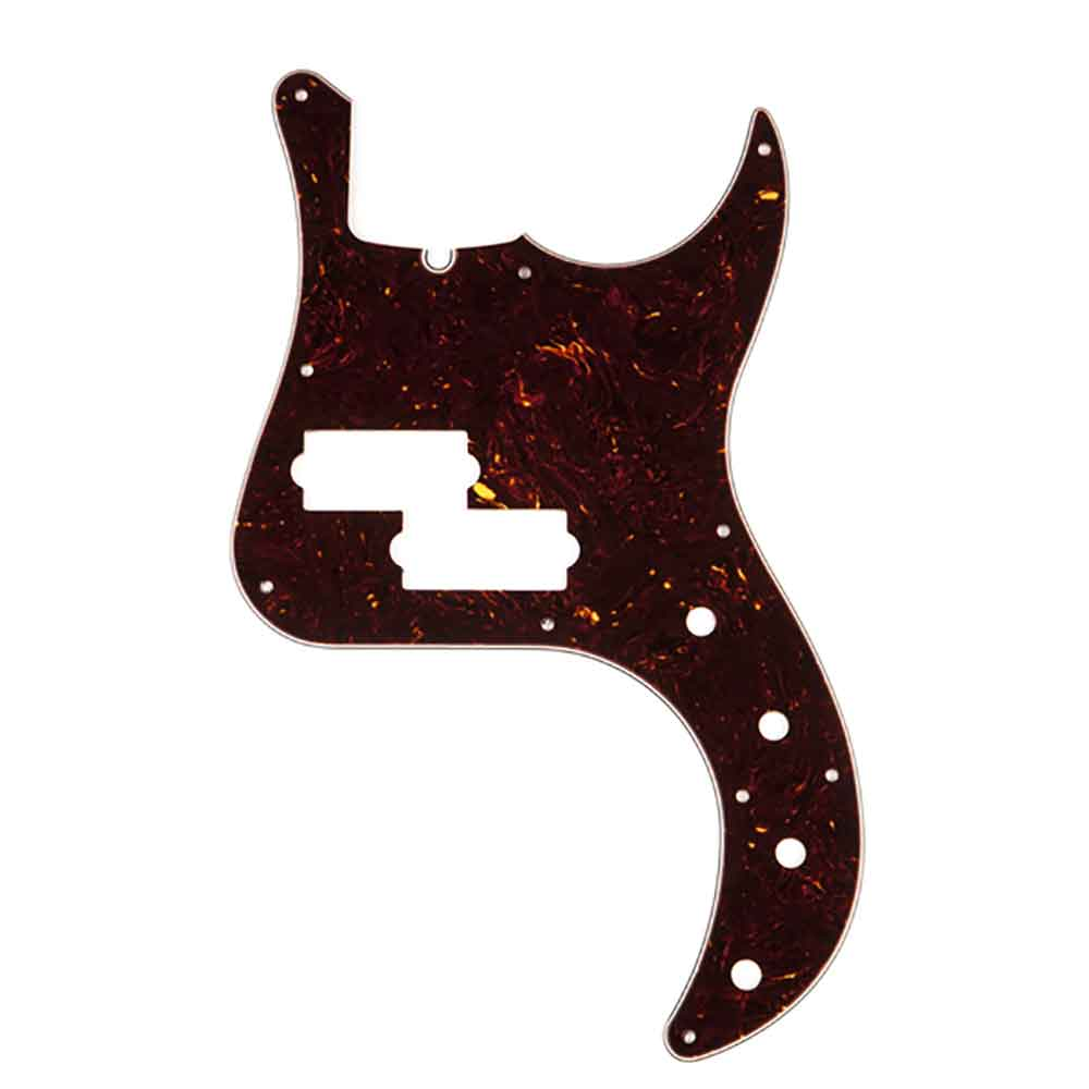 Fender Pickguard American Deluxe P Bass 10-Hole Mount Brown Shell 4-Ply ピックガード