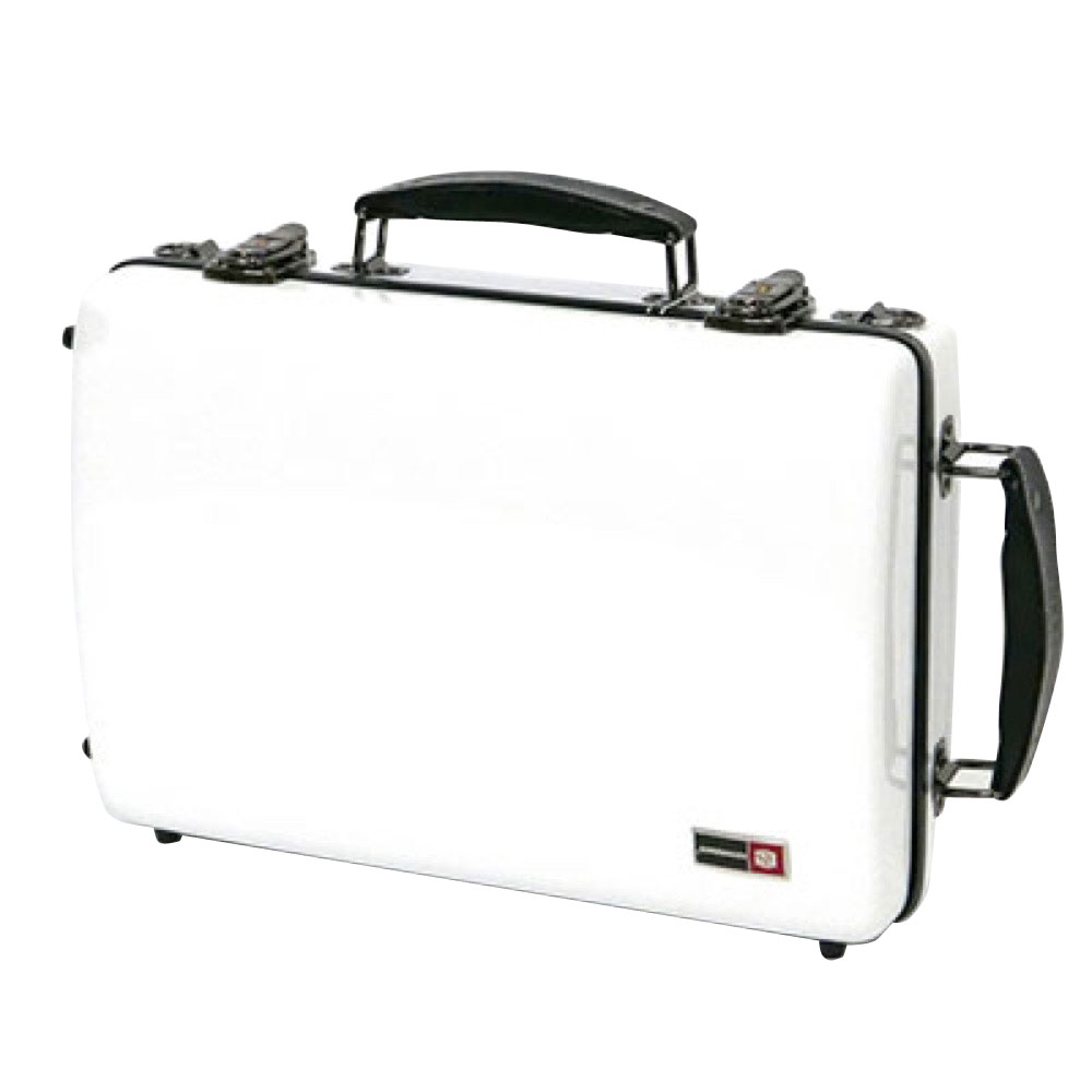 CROSSROCK CRF1000DCLWT Fiberglass double clarinet case WHITE クラリネット用ダブルケース