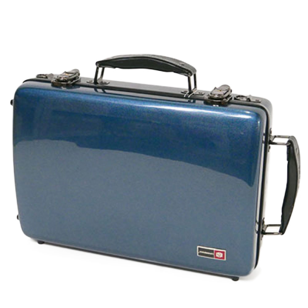CROSSROCK CRF1000DCLBL Fiberglass double clarinet case BLUE クラリネット用ダブルケース