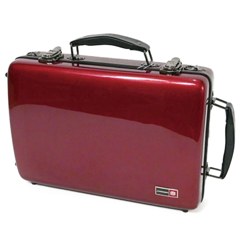 CROSSROCK CRF1000DCLRD Fiberglass double clarinet case RED クラリネット用ダブルケース