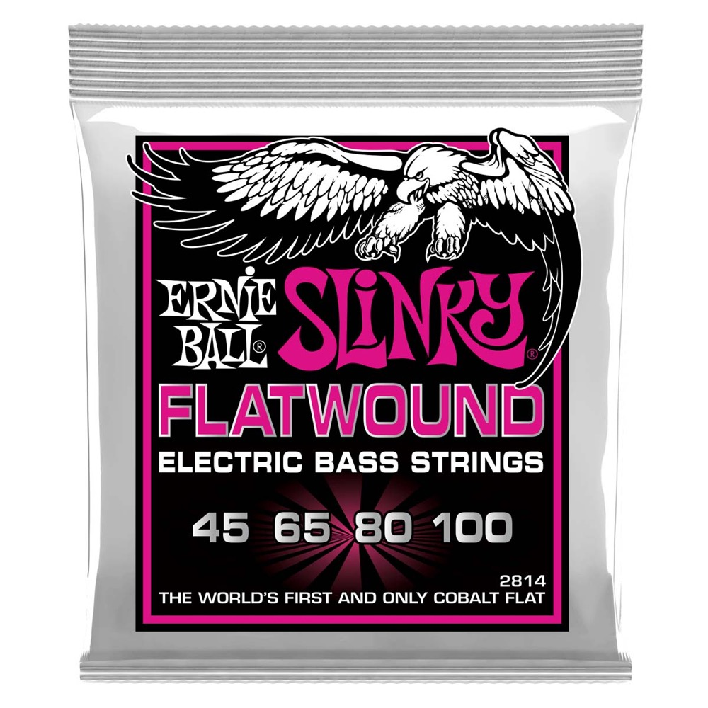 ERNIE BALL 2814 Super Slinky Flatwound 45-100 Gauge エレキベース弦