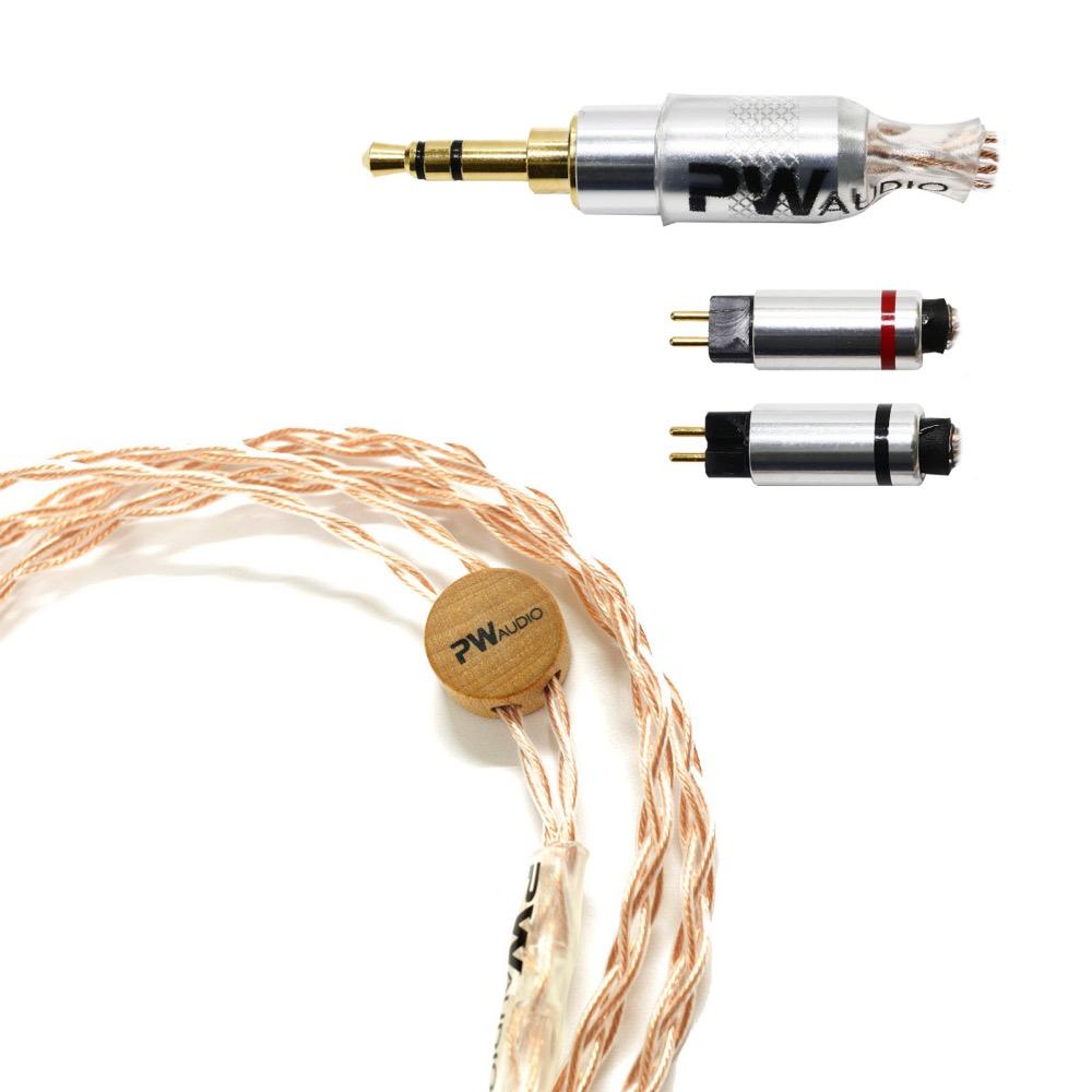 PW AUDIO Copper CIEM 2pin 3.5mm Single イヤホンケーブル