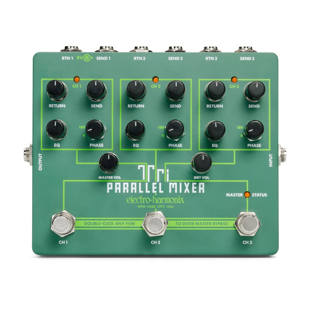 ELECTRO-HARMONIX Tri Parallel Mixer エフェクトループ ミキサー スイッチャー