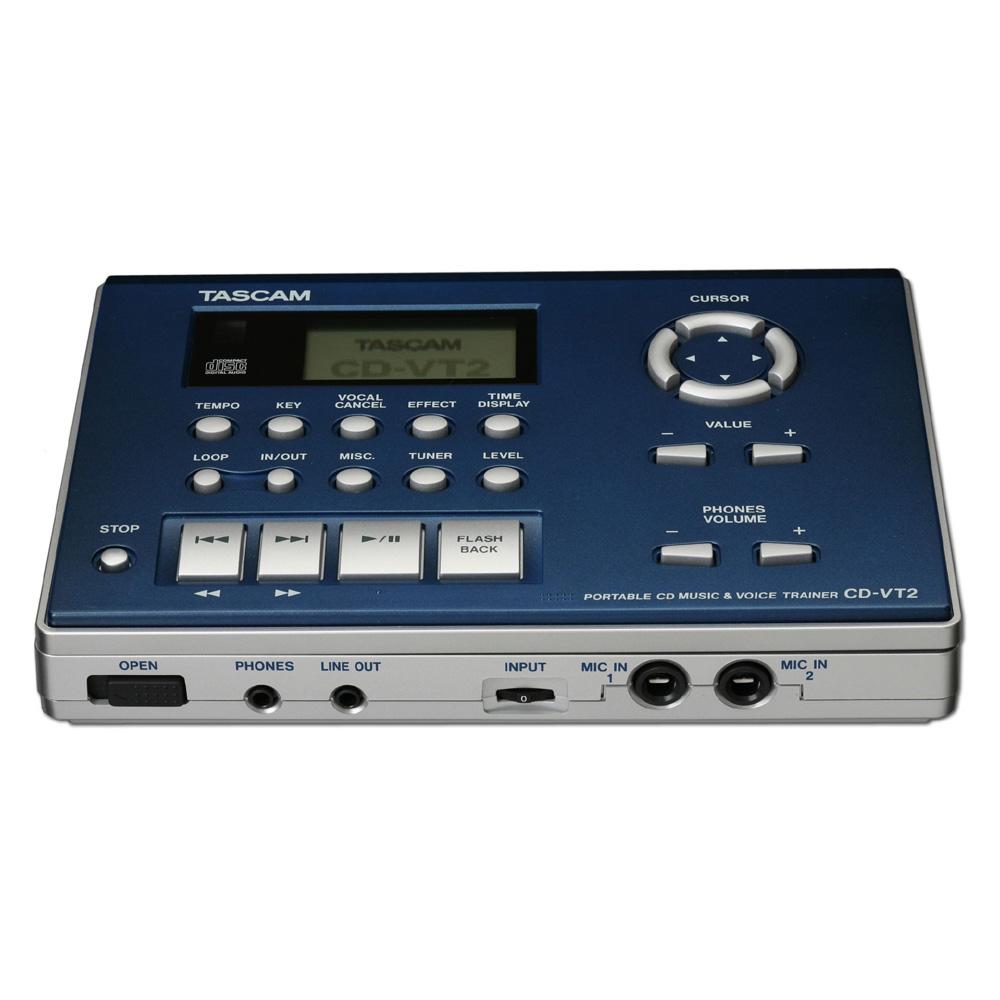 TASCAM CD-VT2 ポータブル CD ミュージック&ボイストレーナー