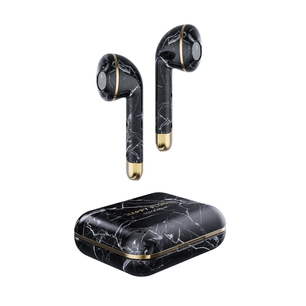 HAPPY PLUGS AIR1 LIMITED EDITION BLACK MARBLE 1620 ワイヤレスイヤホン