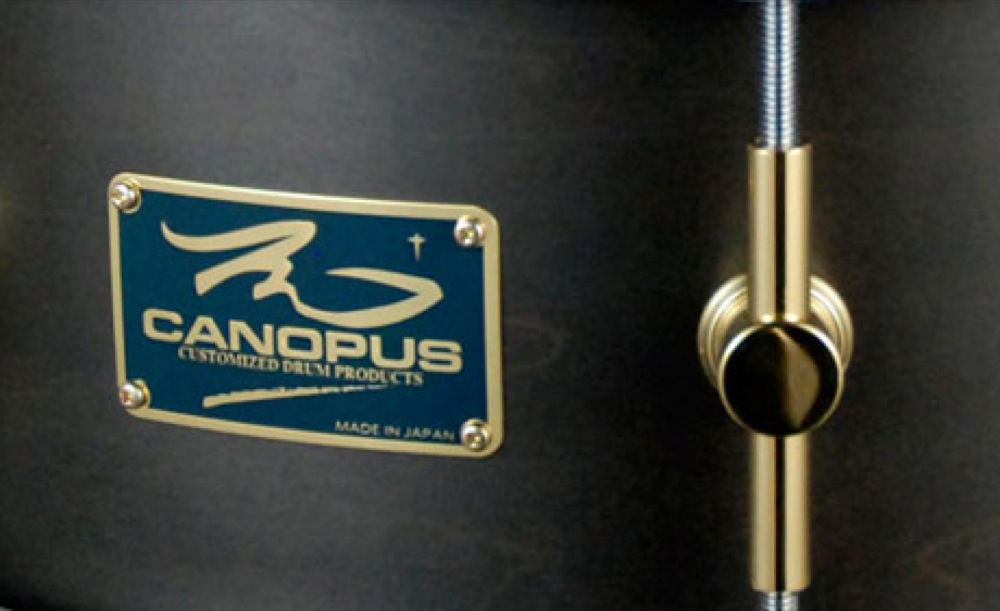 CANOPUS MO-1465 Charcoal Oil スネアドラム