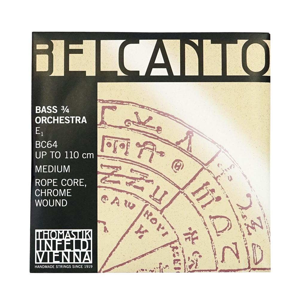 Thomastik Belcanto BC64 Bass E Medium ベルカント コントラバス 3/4 E線 バラ弦