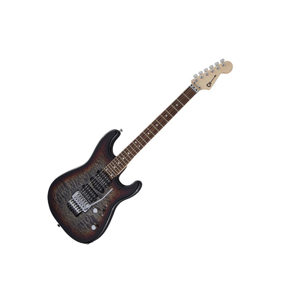 CHARVEL MJ San Dimas Style 1 HSH FR PF QM Midnight Glow エレキギター