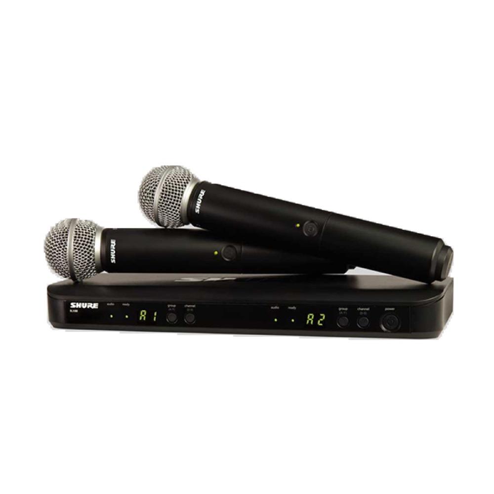 SHURE BLX288/SM58 デュアルチャンネル ハンドヘルド型 ワイヤレスシステム