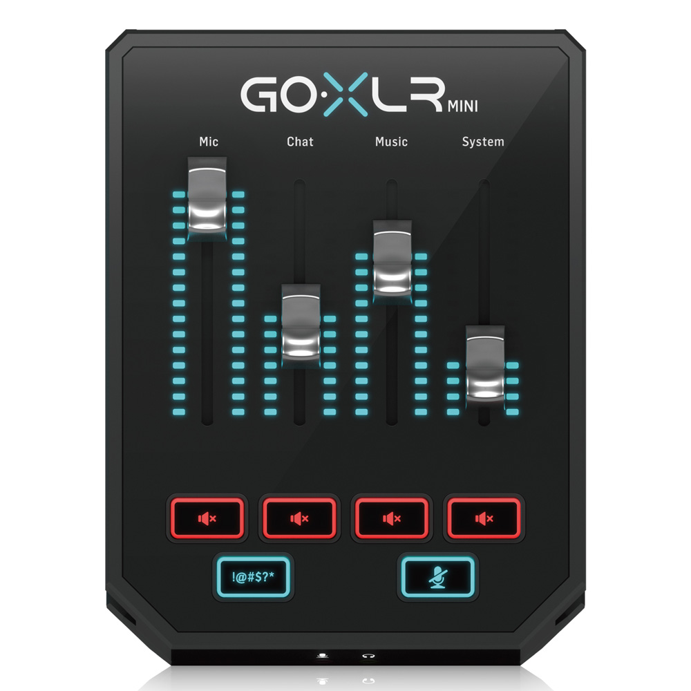 TC-HELICON GO XLR MINI オンライン配信用ミキサー & USBオーディオインターフェイス