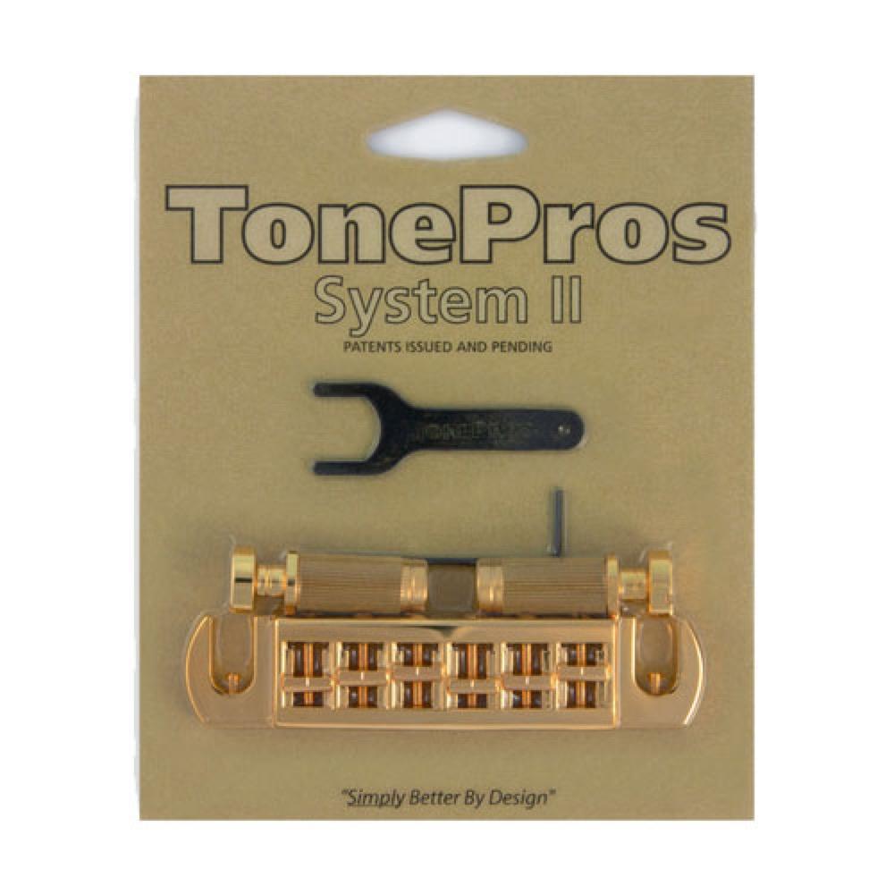 TonePros AVT2G-G Wraparound Bridge ゴールド ギター用ブリッジ