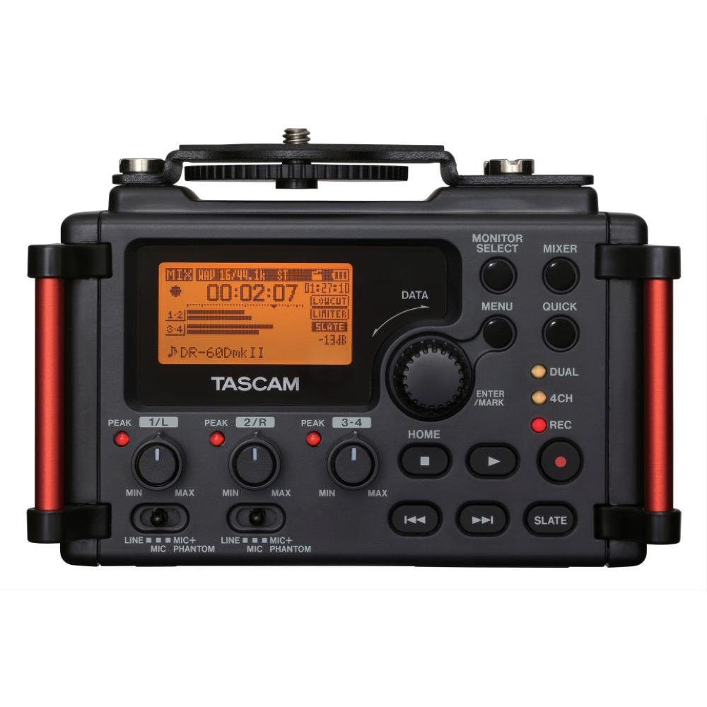 日本メーカー新品 高音質な動画撮影を可能にするミキサー統合型レコーダー TASCAM DR-60DMKII 新作入荷!! ミキサー カメラ用リニアPCMレコーダー