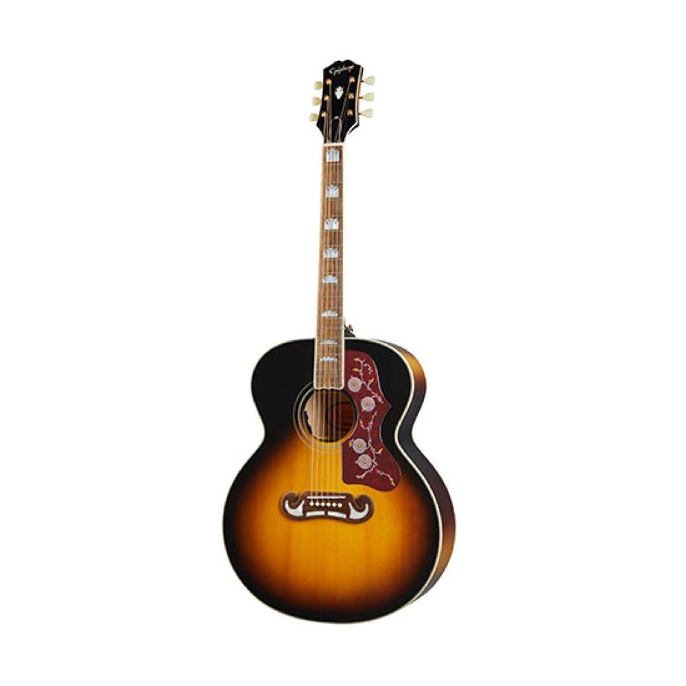 エピフォン マスタービルトシリーズ フラットトップ エレアコ Epiphone Masterbilt Gloss 新生活 Sunburst エレクトリックアコースティックギター J-200 日本全国 送料無料 Aged Vintage