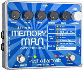 ELECTRO-HARMONIX STEREO MEMORY MAN WITH HAZARAI 正規輸入品