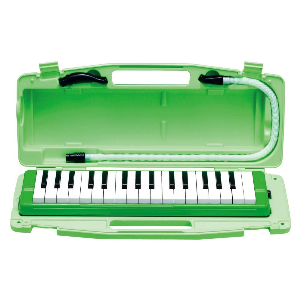 ZEN-ON 毎日続々入荷 ゼンオン 鍵盤ハーモニカ ピアニー 緑 アルト 日本産 GREEN 全音 323AH