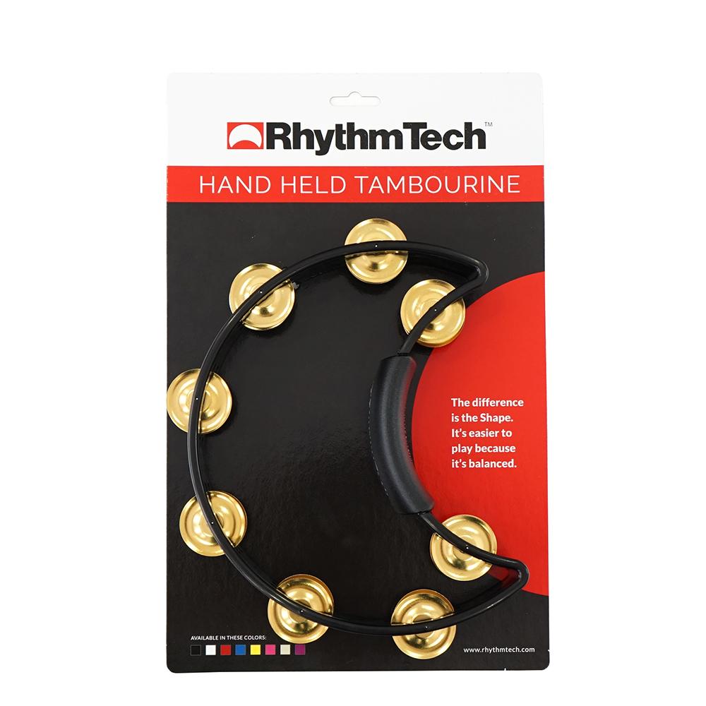 RhythmTech RT1011 ブラス 2連 黒 タンバリン