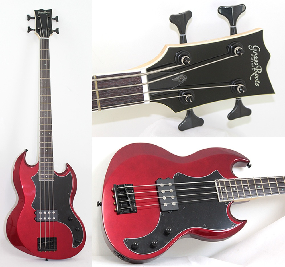 GrassRoots G-VP-46B Candy Apple Red エレキベース