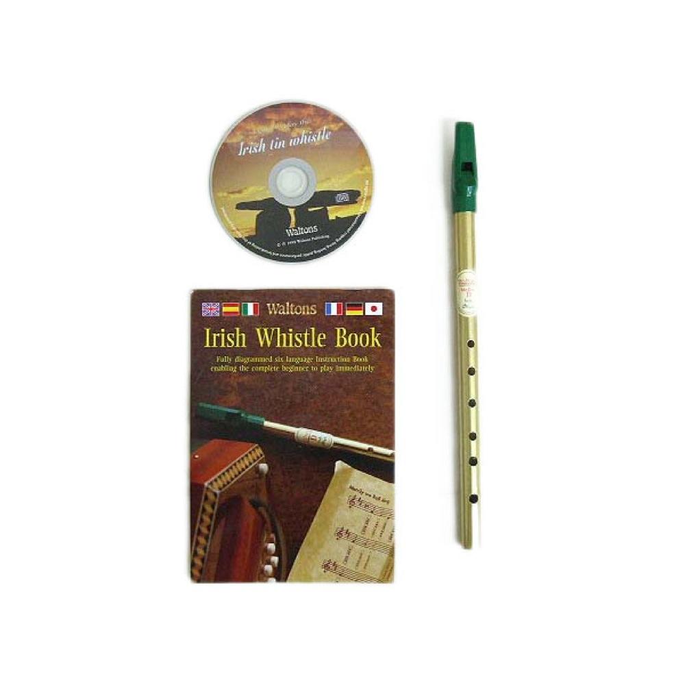 WALTONS製アイリッシュホイッスル 高品質新品 CD付き WALTONS 授与 1514 TIN CDセット WHISTLE ティンホイッスル